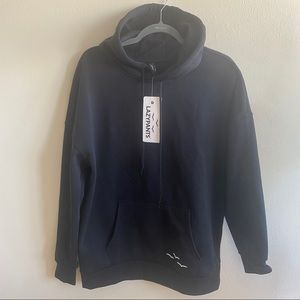 BNWT Lazypants Black Pullover Hoodie Small